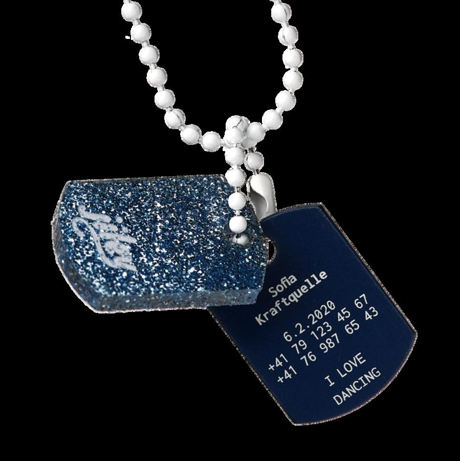 Personalisierte Halskette Kinder Gravur Telefonnummer